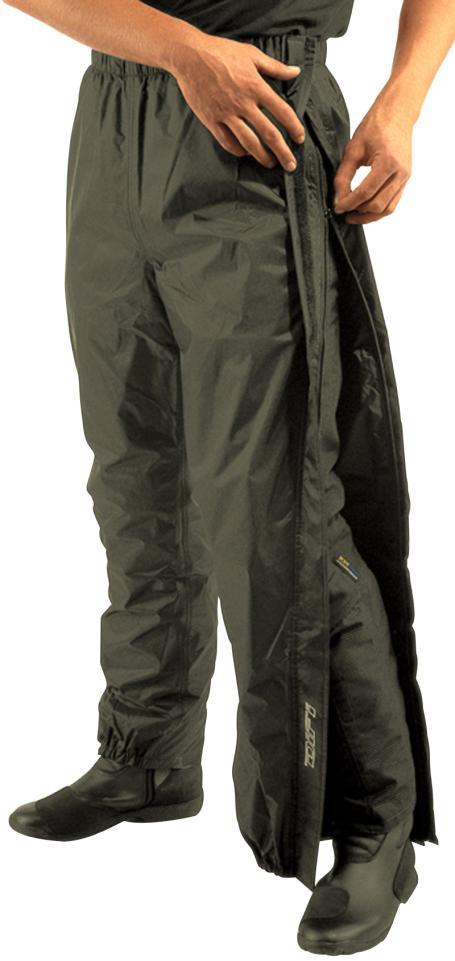 Difi Pantalon Pluie Zip Noir