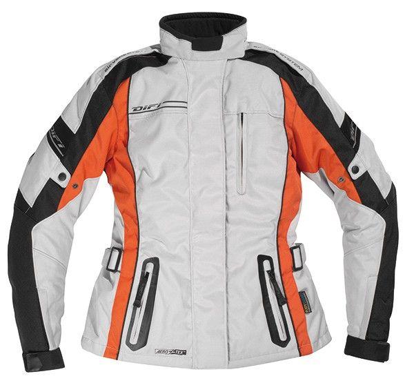 Veste moto femme XENIA 2 Aerotex Gris Orange - DIFI