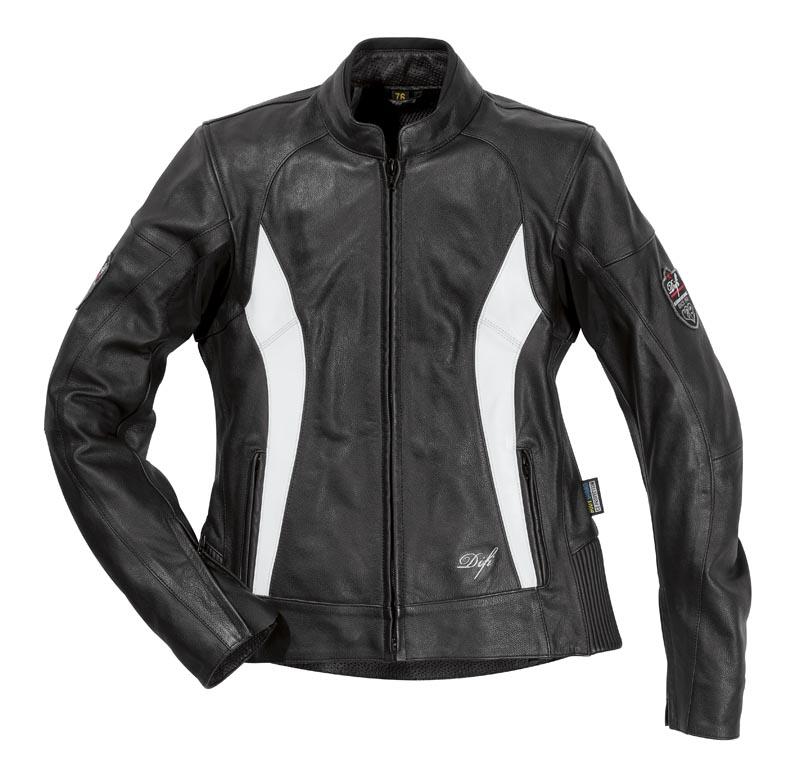 Veste moto femme SOPHIE noir&blanc