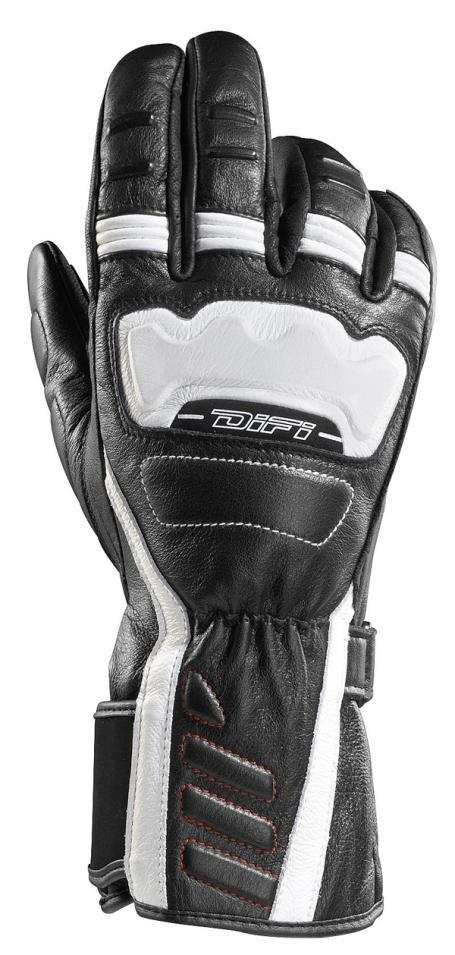 GANTS MOTOS Warrior noir&blanc, Difi motobigstore