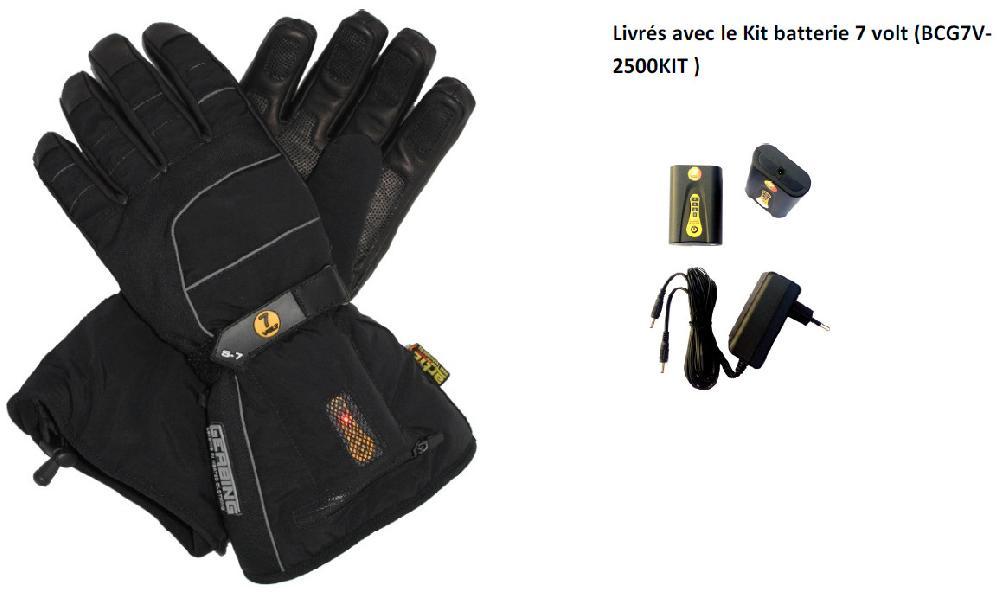 S7 - Gants chauffants Gerbing Ski 7V avec batterie - Image 2