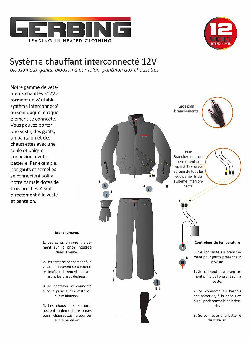 PL12 - Pantalon chauffant Gerbing Unisexe 12V sans batterie - Image 1