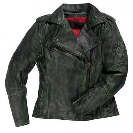 Veste femme moto MARLEEN Vert, DIFI