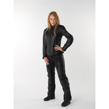 Veste moto femme en cuir PICA Noir, DIFI - Image 1