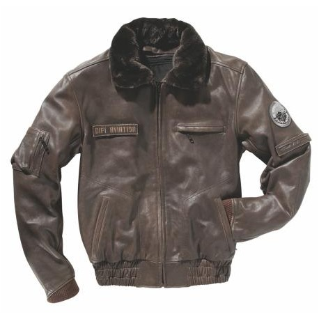 Veste AVIATION Classic - DIFI - marron