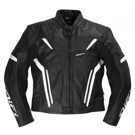 Veste moto femme cuir MONACO Noir&Blanc, DIFI