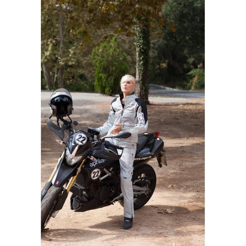 Veste femme d'été FLORIDA gris/blanc - DIFI - Image 3